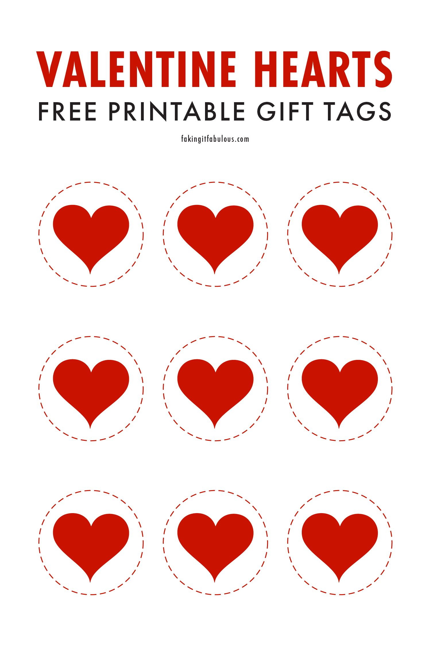 Valentine Hearts Free Printable Gift Tags In 2021 Heart Gift Tags Valentines Printables Free Gift Tags Printable