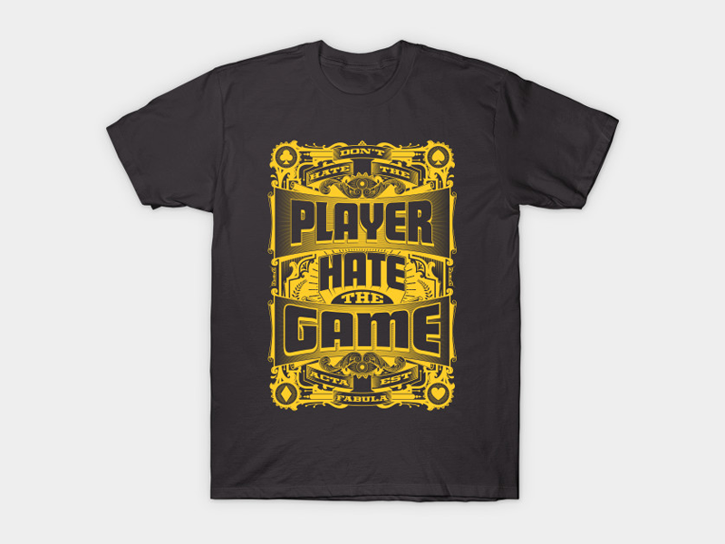 Hate Game Tee by Roberlan Borges