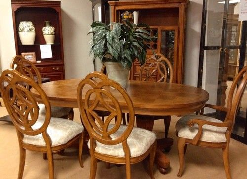 Room Thomasville Furniture Villa Soleil Chairs W Stanley Dinning Table