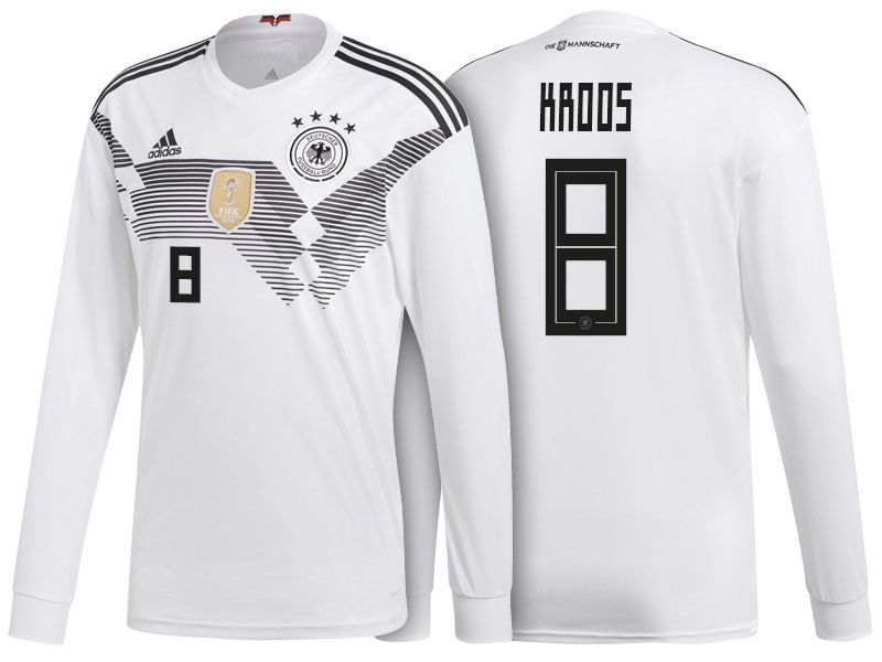 29de37c093a Germany Shirt 2018 World Cup LS toni kroos Home Soccer Jersey