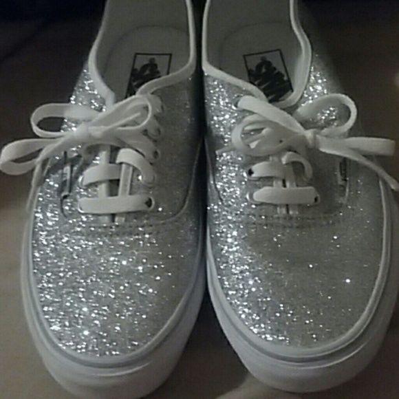 silver vans womens