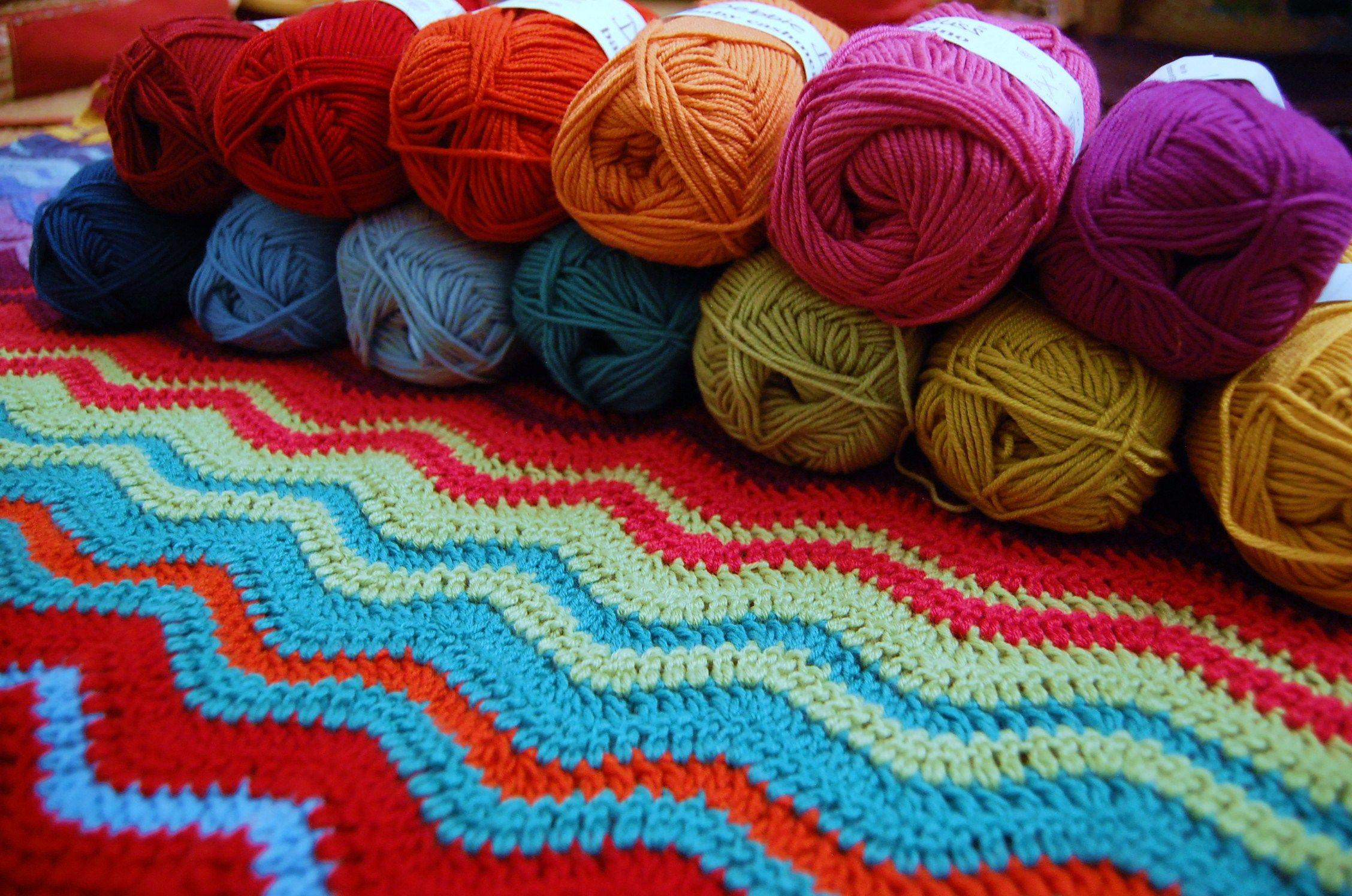 Lujo Patrón De Crochet Ondulación Ondulado Viñeta - Manta de Tejer ...