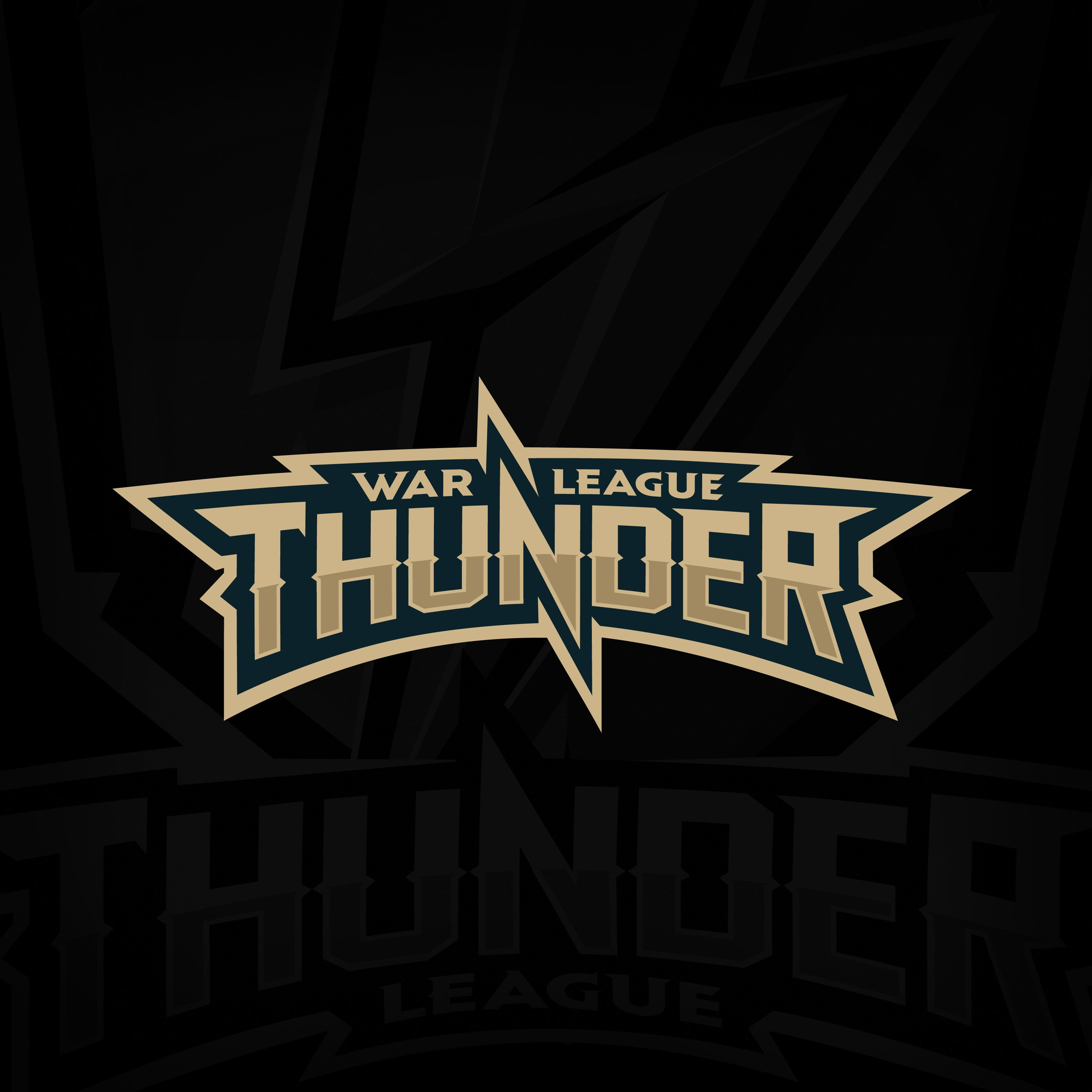 """Logo for the global online tournament """"War Thunder League"""" at the world famous online game """"War ..."""