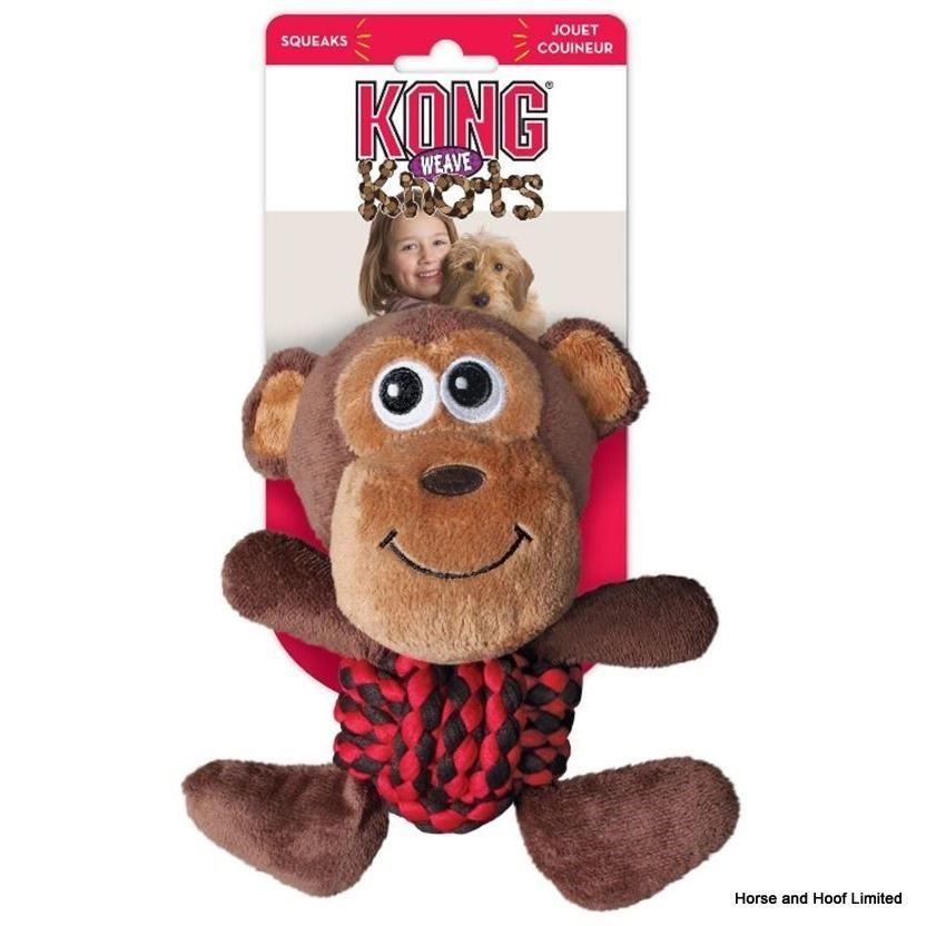 Kong Weaves Knots Monkey Dog Toy Medium Interactive Dog Toys