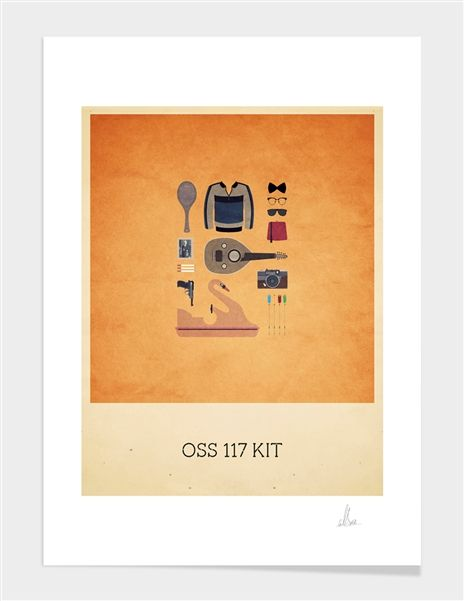 """OSS 117 Kit"", Limited Edition Affiches d'art by Alizée Lafon - From 39,00€ - Curioos"
