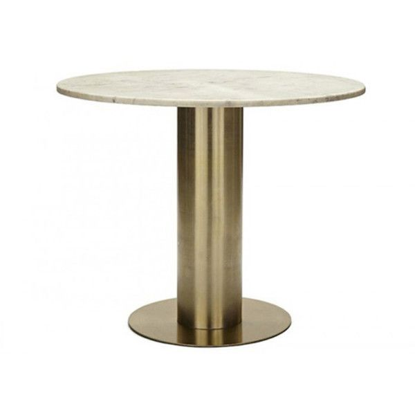Tom Dixon Screw Table Tube Base 910 Liked On Polyvore Featuring Home Furniture Tables Accent Tables Bronze Tom Dining Table Table Round Accent Table