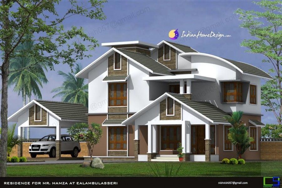 Best Modern Sloped Roof Kerala Home Design In 2444 Sqft By 400 x 300