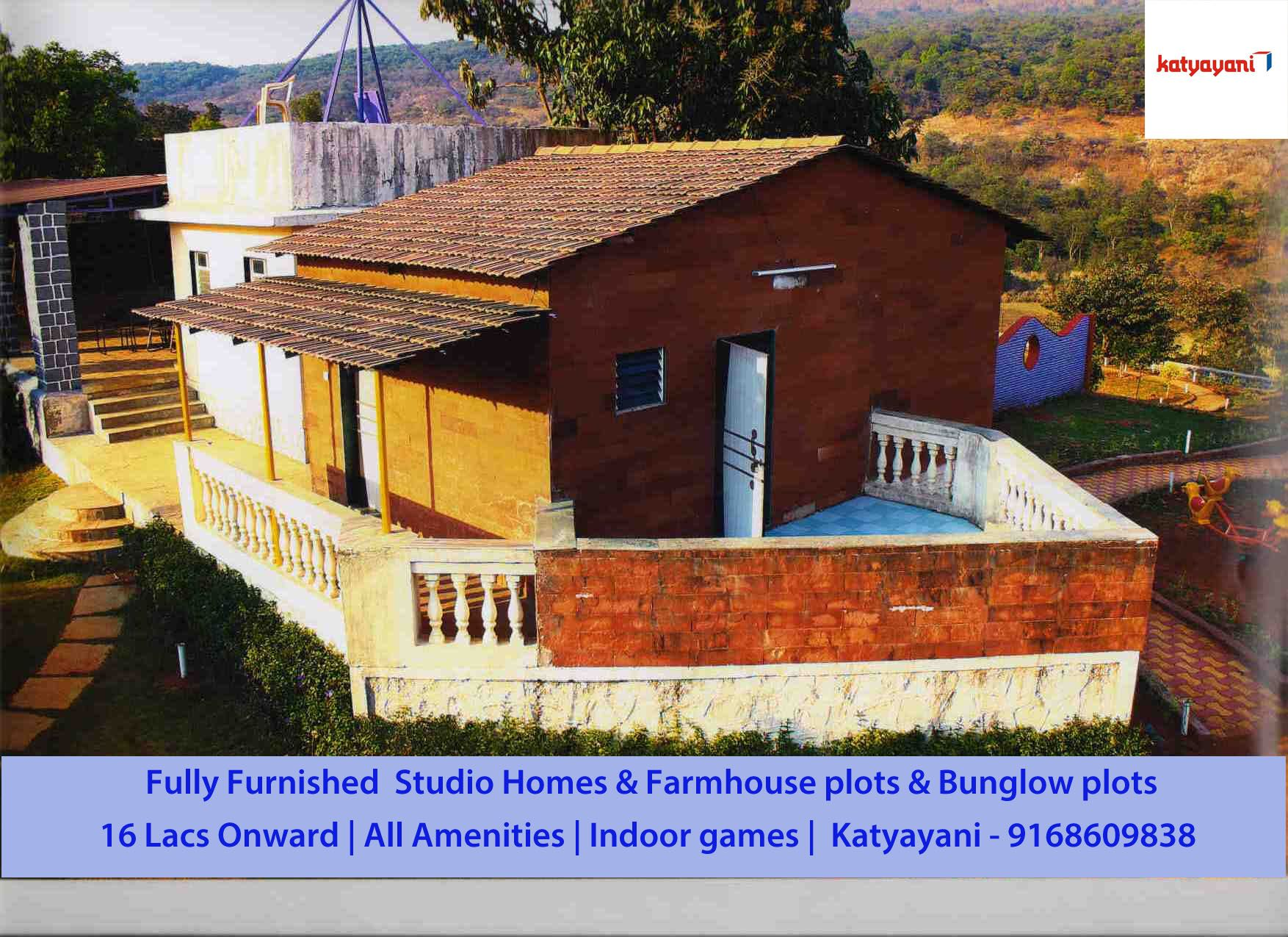 Fully furnished studiohomes & Farmhouse plots & Bunglow