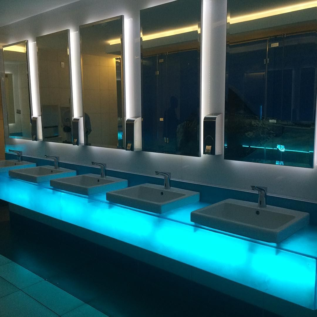 Night Club Bathroom Lighting Using Our Leds And Lighting Profiles