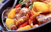 Photo of A tagine of lamb with olives, peppers and potatoes-Un tajine…