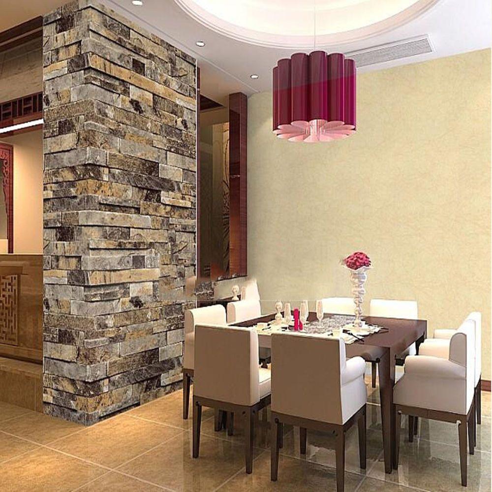 modern vintage 3d effect natural embossed stack stone brick tile