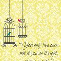 """""""You Only Live Once"""" Printable by A Glimpse Inside"""