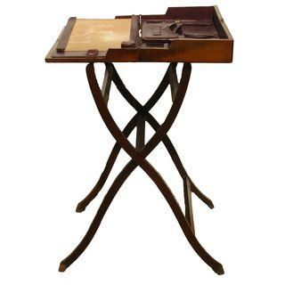 19th C English Folding Campaign Desk Campaign Furniture Folding Desk Campaign Desk