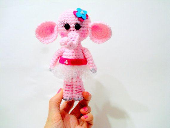 Pattern, Amigurumi Elephant Pattern, Crocheted Elephant Pattern, Amigurumi Pattern, Tutorial, Crochet Elephant, Instant Download