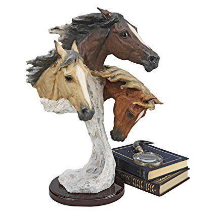 Progettazione Toscano QS84111 Per-la-scommessa-con-il-vento Wild Horses grande statua di Samuel Lightfoot
