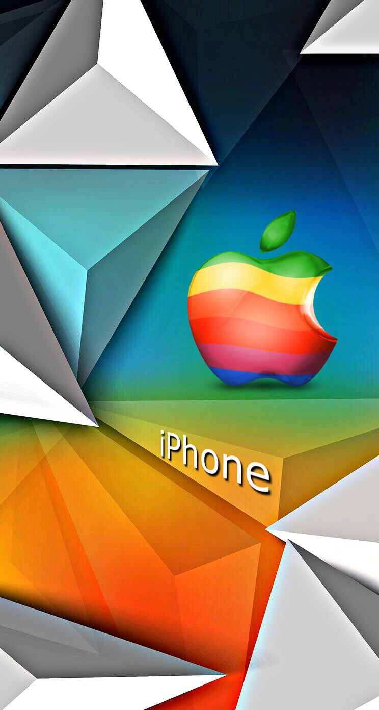 Colorful Iphone Abstract Wallpaper Apple Logo Wallpaper Iphone