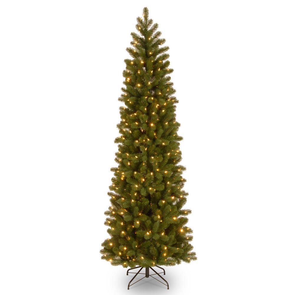 6 5 Ft Downswept Douglas Pencil Slim Fir Tree With Clear Lights Greens Slim Artificial Christmas Trees Slim Christmas Tree Pencil Christmas Tree Pre lit slim christmas tree