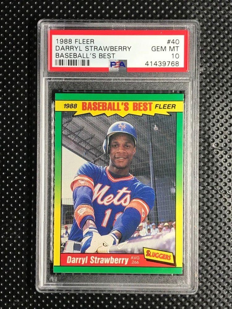 1988 fleer baseballs best darryl strawberry psa 10 new