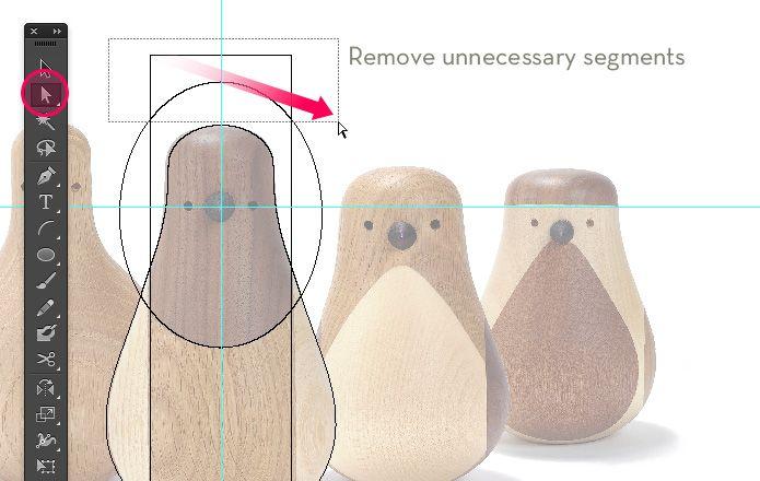 Use Illustrator's Pathfinder to create symmetrical birds | Veerle's blog 3.0