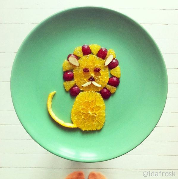 Fruit Filled Lion! | Love this, adorable and vitamin C rich!