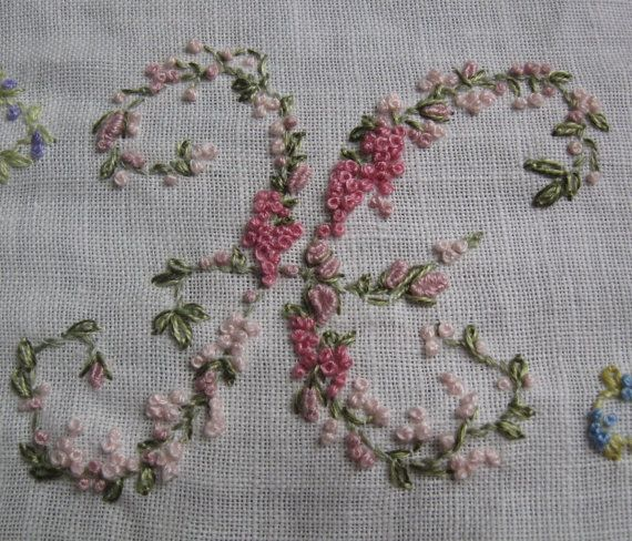 Hand embroidery monogram letter h … pinteres…