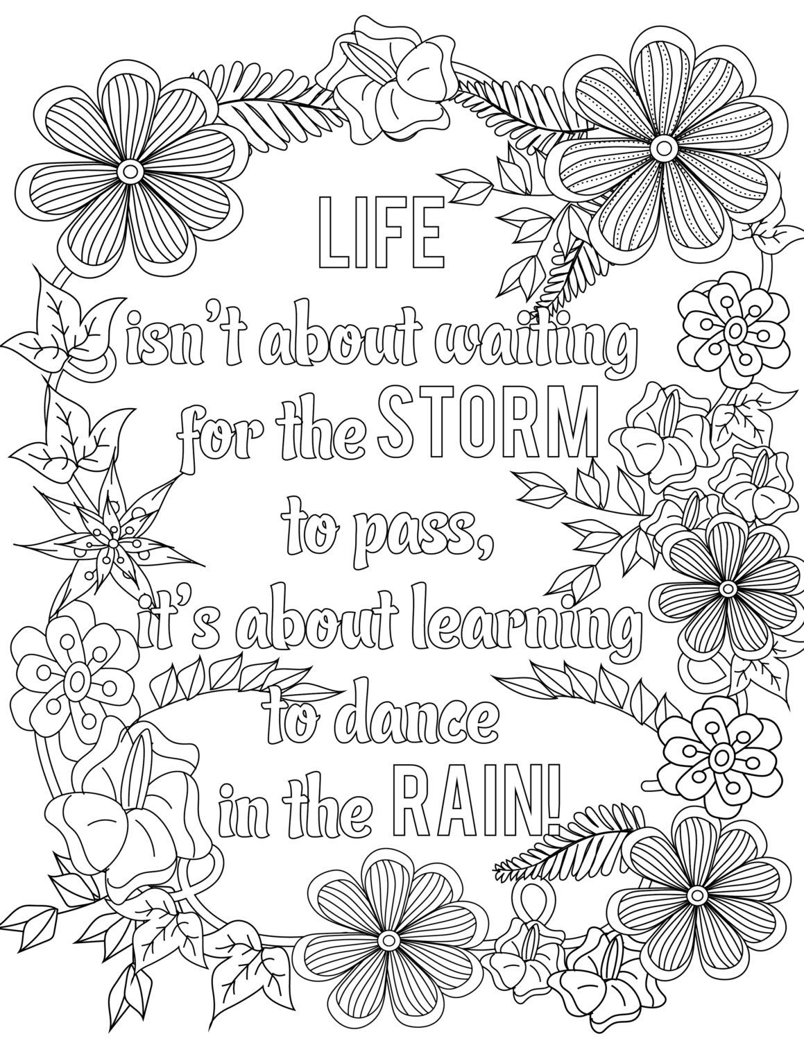 adult coloring pages inspirational quotes | Inspirational Quotes A Positive & Uplifting by ...