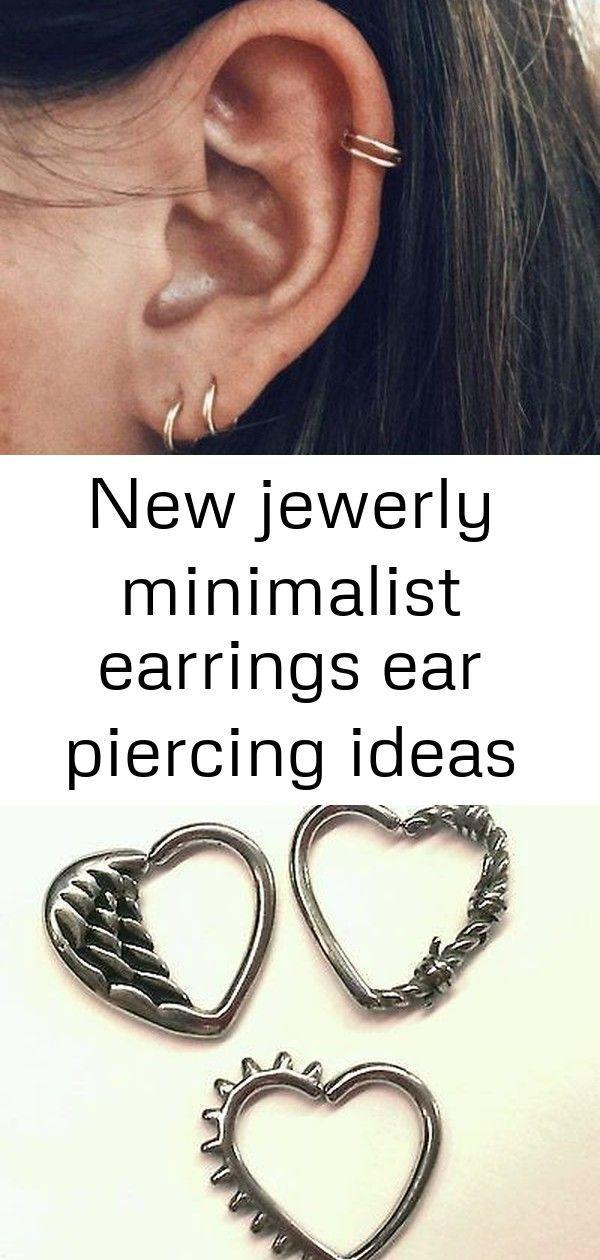 New jewerly minimalist earrings ear piercing ideas #earpiercingideas