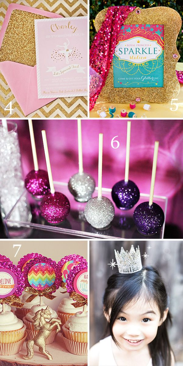 8 Fun Ways To Party With Glitter Glitter Party Princess