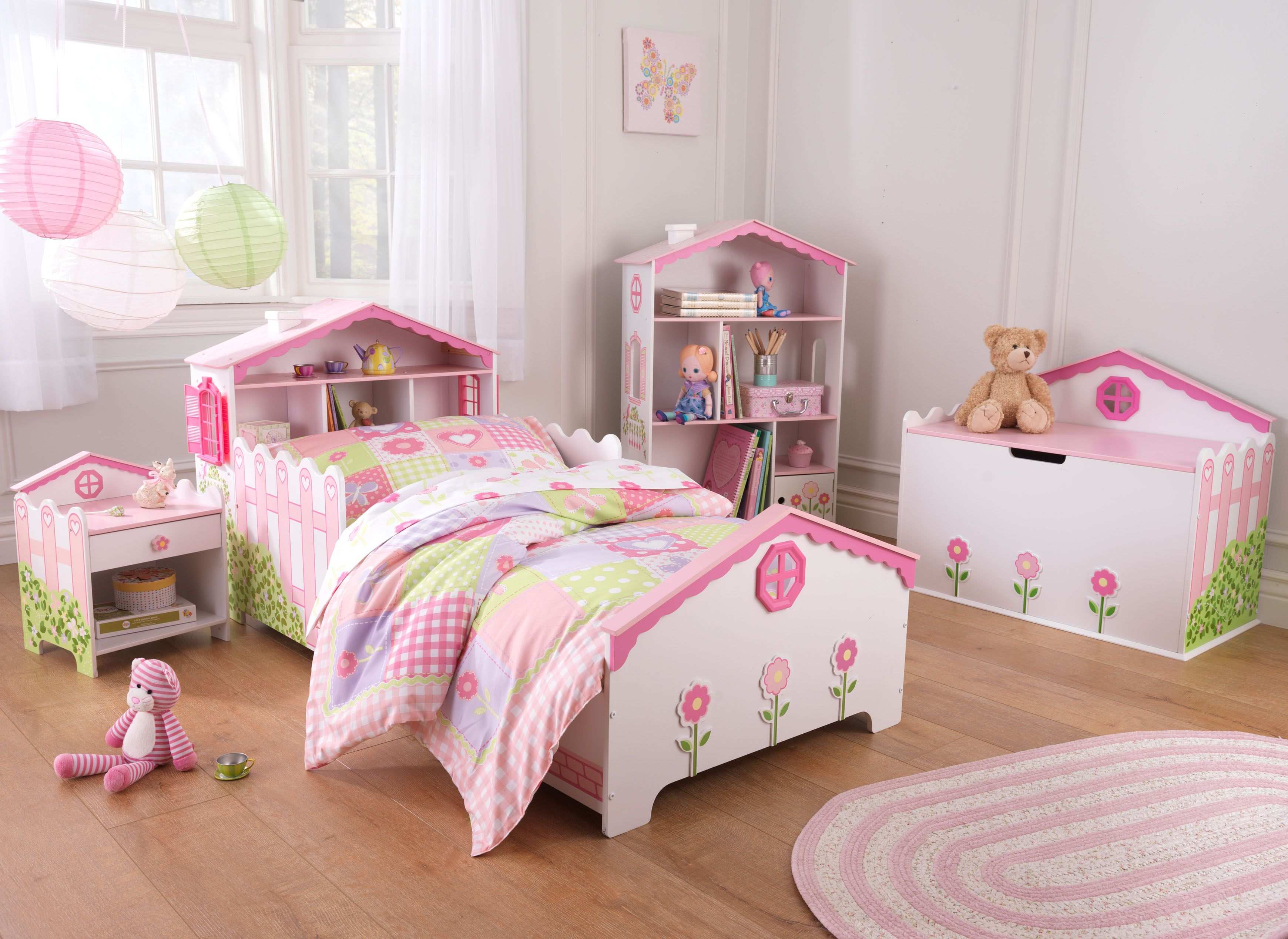 Dollhouse Toddler Bed Room Set