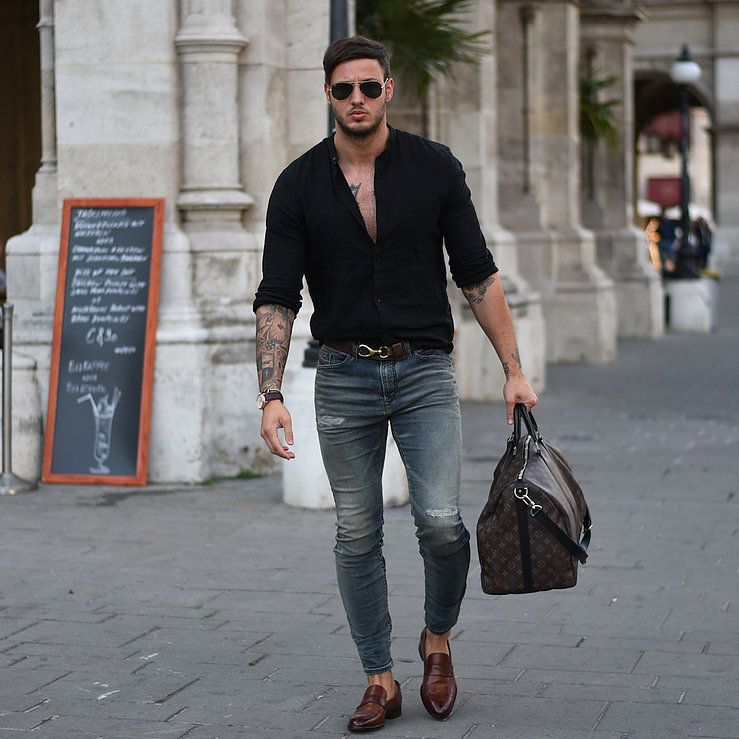 Rugged Style Men Great Masculine Outfit