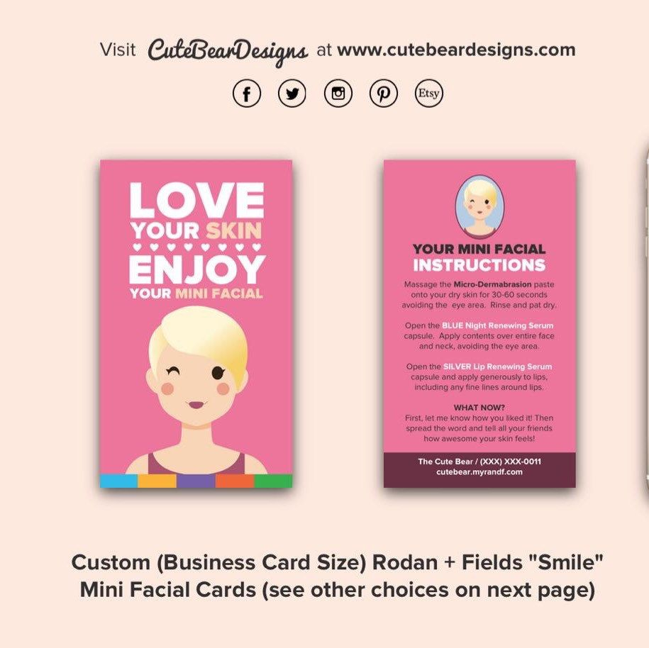Custom Business Card Size R+F \