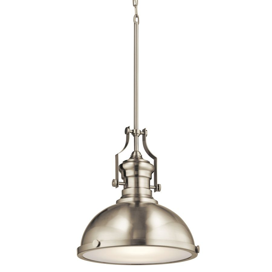 Industrial Pendant Lighting For Kitchen 99 Kichler Lighting 122 In Satin Nickel Industrial Single Etched