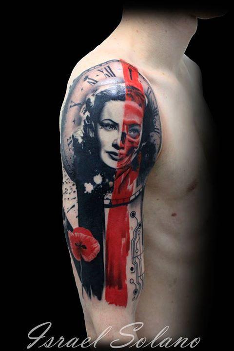 Trash Polka Tattoo Tatuaje Black Red Negro Rojo Girl Chica