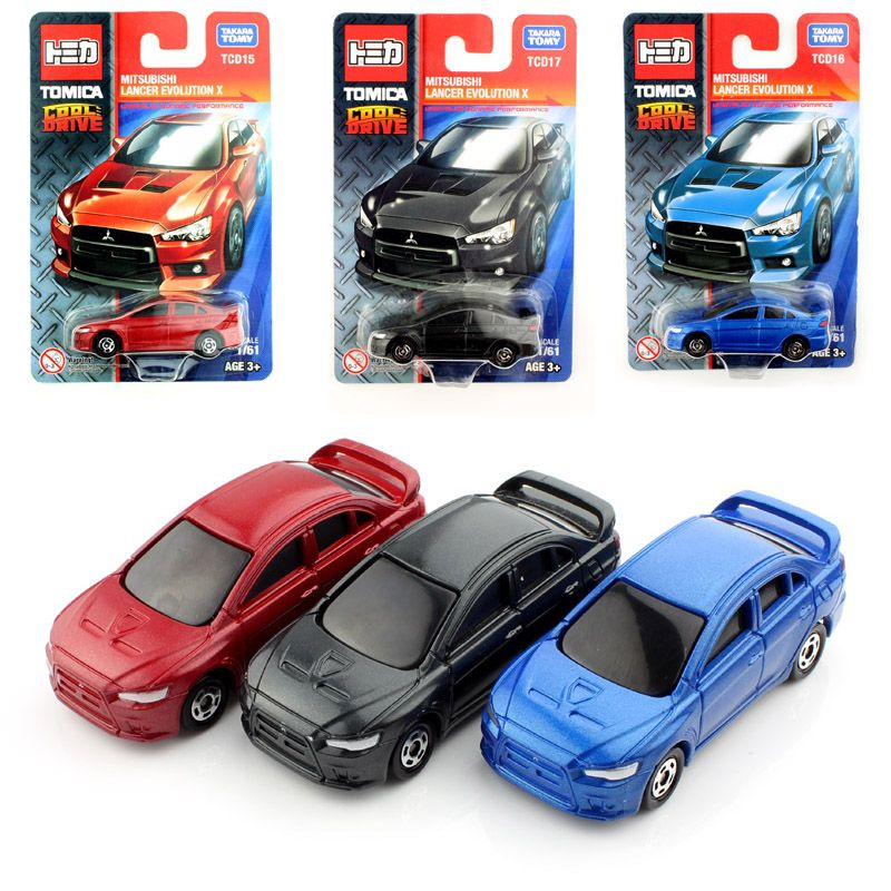 Tomy Miniature Scale Tomica Lancer X Kids Diecast Auto Motor Cheap Models Race Cars Toys Durable Collectile Gifts For Children Race Cars Toy Car Motor Car