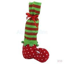 10x Santa Elf Pixie Shoe Boot Suspenders Short Candy Gift Bag Christmas Stocking