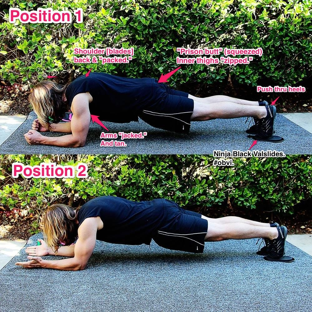 """The Valslide Bodysaw: it's a deceptively subtle movement, and you get a whole lot of action! It's like a traveling plank... a """"magic carpet ride,"""" if you will. (Sweet song, btw.)  Start with just a few reps to """"figure it out"""" (3-5 at a time with as little rest as you need to keep solid form) - then as you get better, step it up and try sets of 8-10.  As with any #Valslide exercise, focus on the quality of movement... and not some arbitrary amount of reps."""