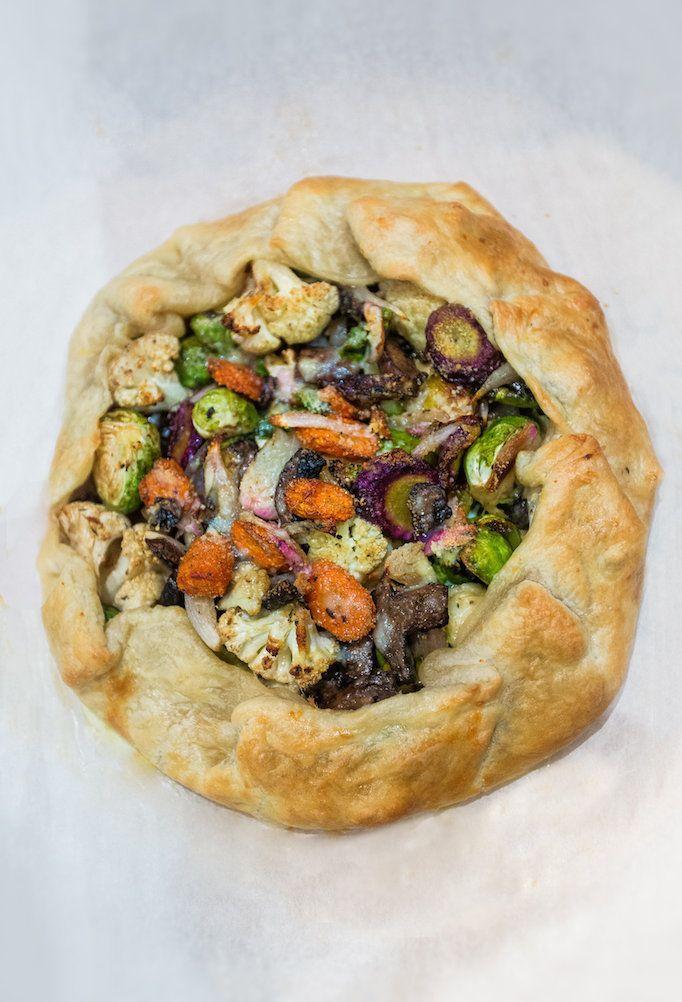 Roasted Vegetable Crostata - Owens and Davis