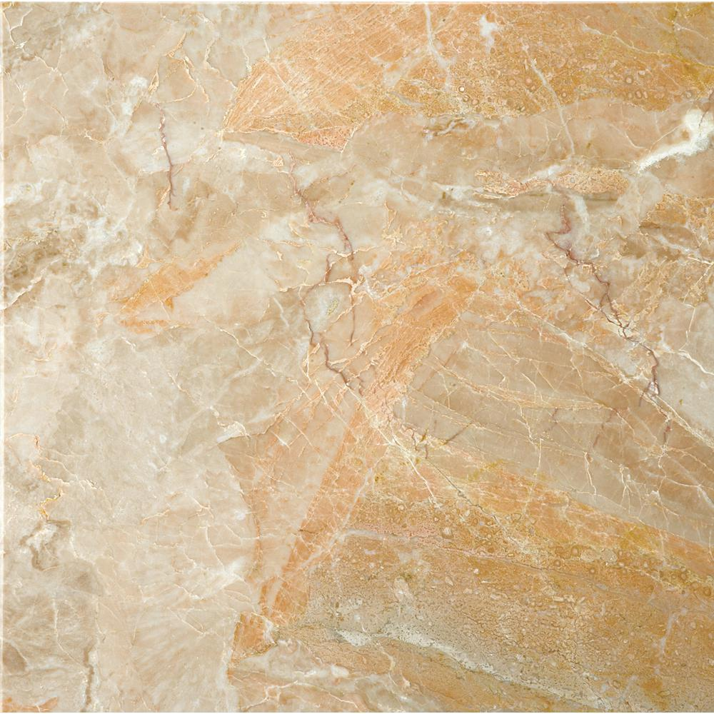 Emser Marble Breccia Oniciata Polished 12 01 In X 12 01 In Marble Floor And Wall Tile 1 Sq Ft 824122 The Home Depot Stone Look Tile Emser Marble Tile Floor