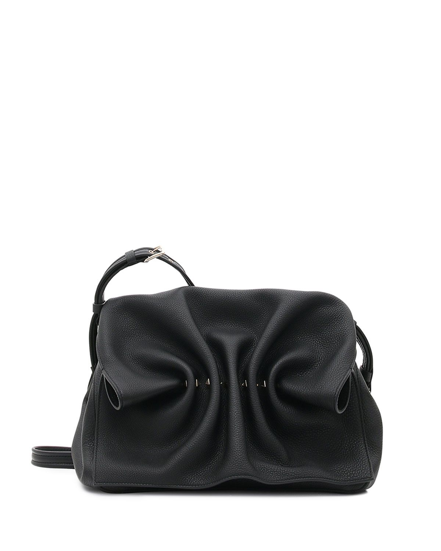 Valentino Garavani Bloomy Gathered Leather Shoulder Bag