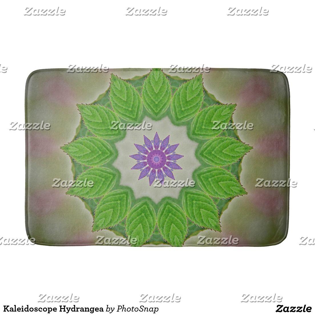 Kaleidoscope Hydrangea Bath Mat