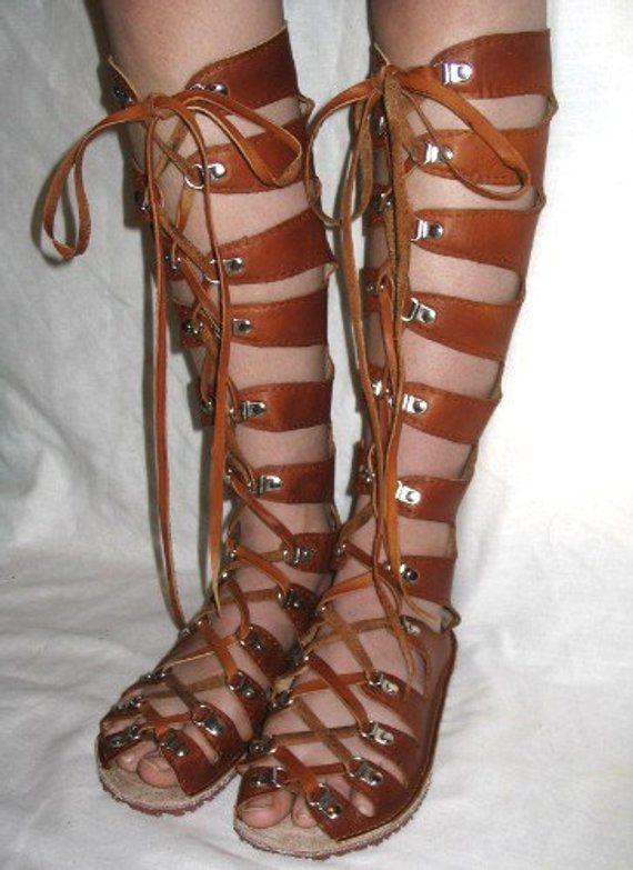 146efd1330d2 Leather Gladiator Sandals Medieval Renaissance Shoes Handmade Steampunk  Sandals Custom Leather Sanda