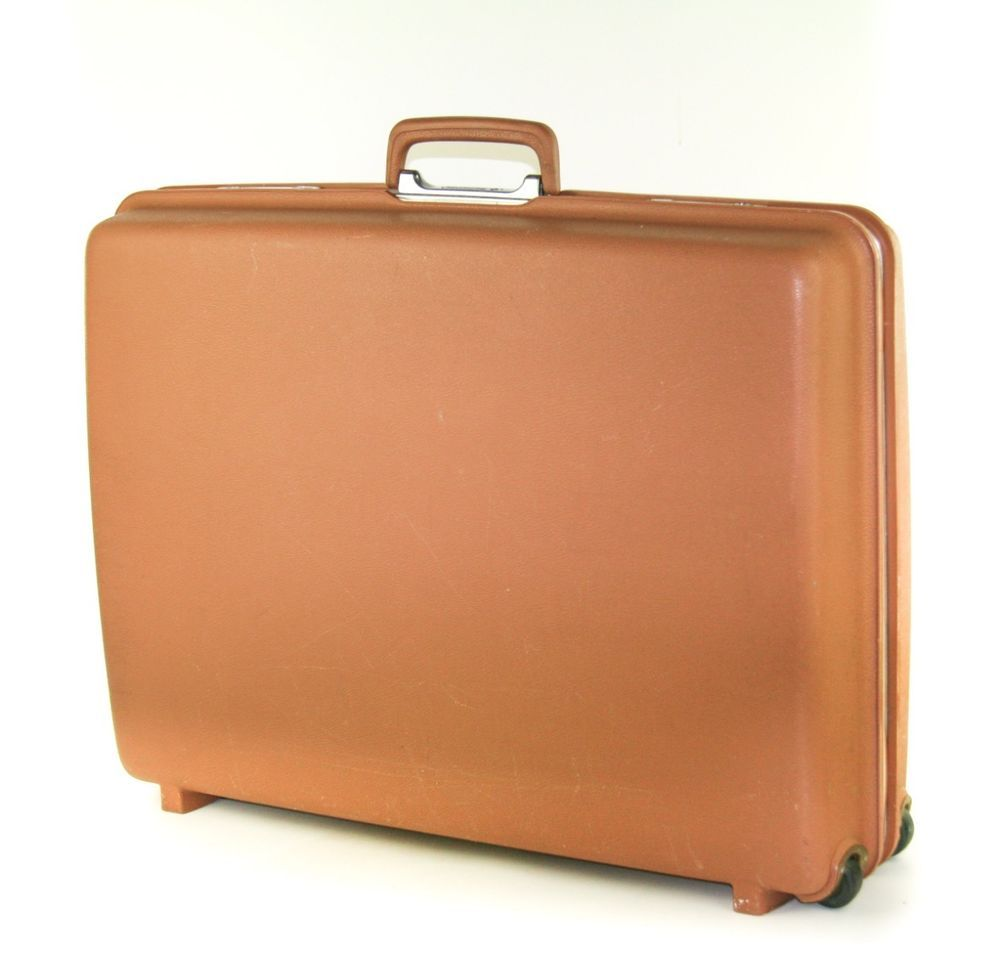 SAMSONITE CONCORD BROWN TAN VINTAGE 1960's LARGE HARD SHELL ...