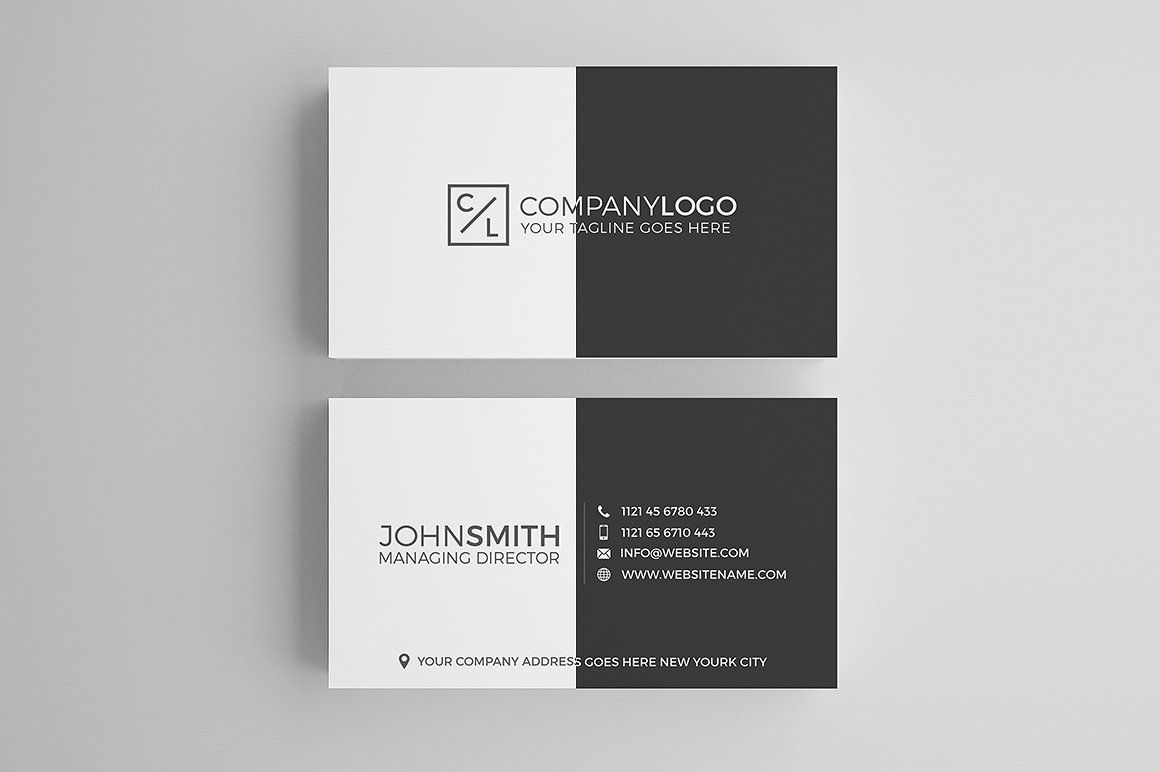 Minimal Modern Business Card Design Modern Business Cards