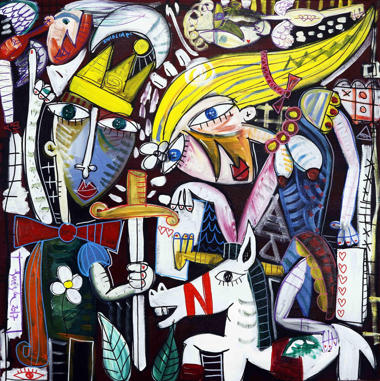 quadro olio su tela dell\'artista Alessandro Siviglia 100x100 cm ...