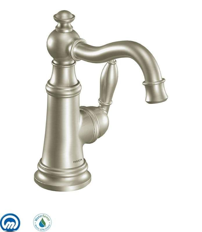 View the Moen S42107 Single Handle Single Hole Bathroom Faucet from