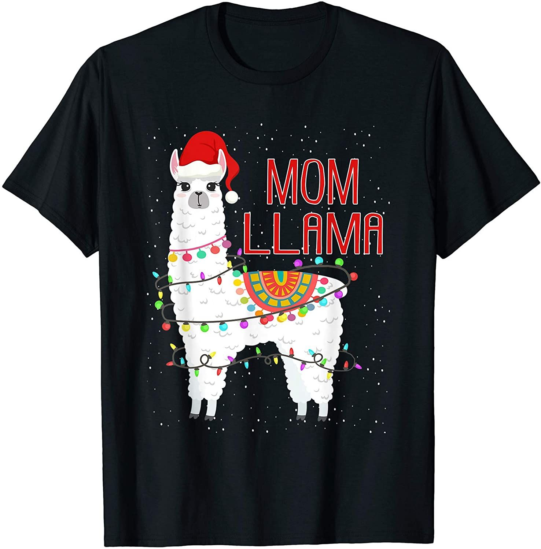 Mom Llama Christmas Funny Matching Family Pajama TShirt