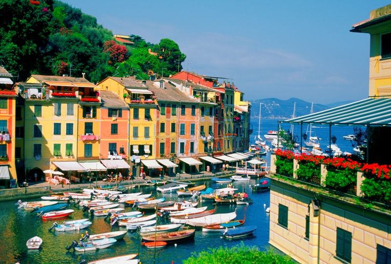 Portofino is on the beautiful west coast of Italy.