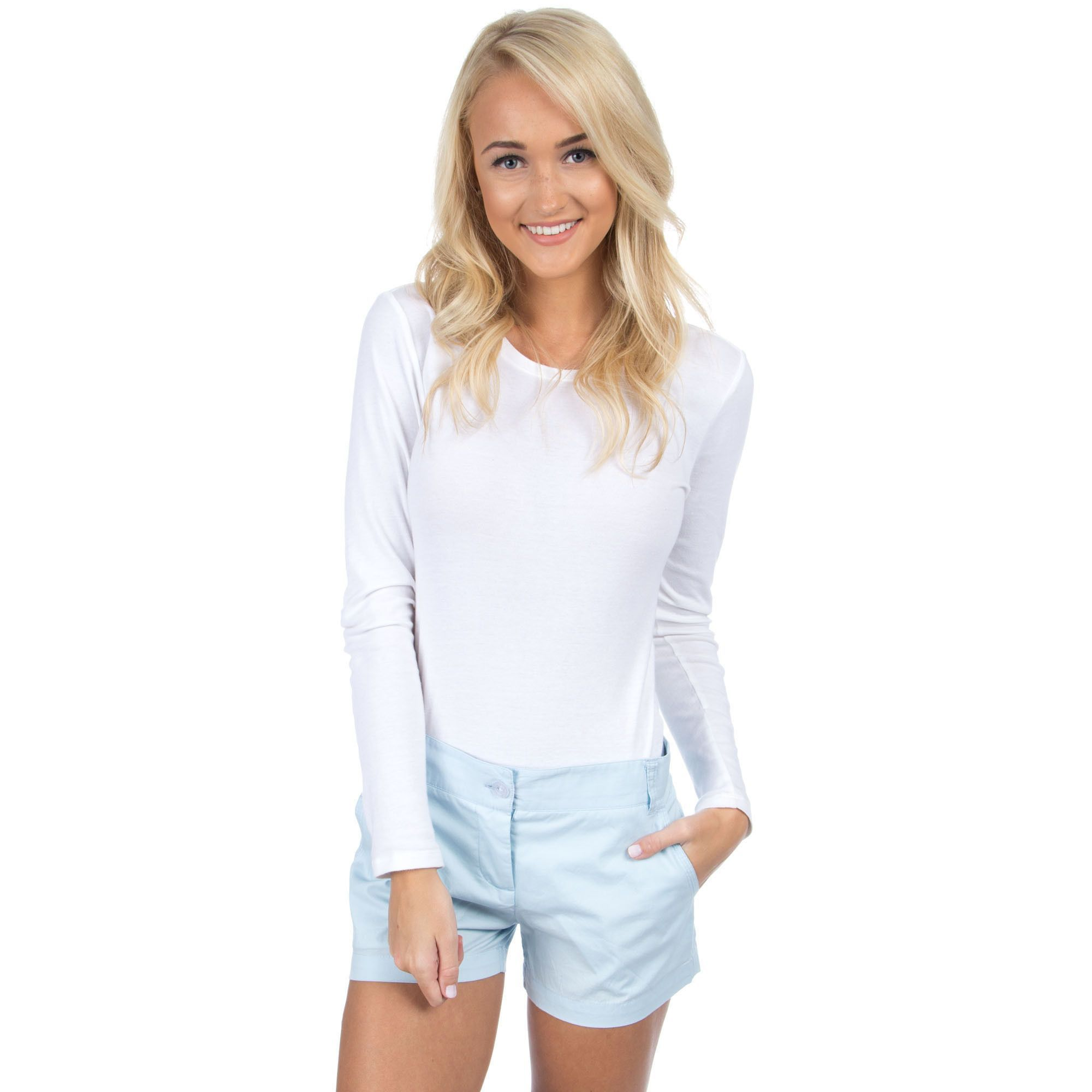 Poplin Short in Light Blue by Lauren James