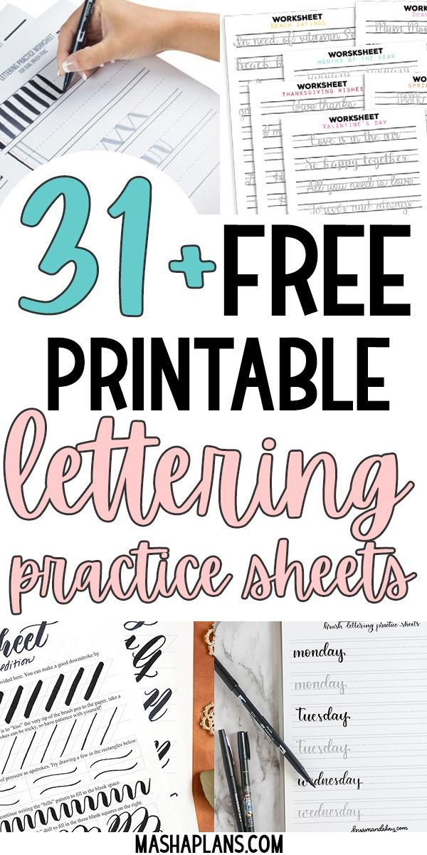 31+ Free Printable Lettering Practice Sheets