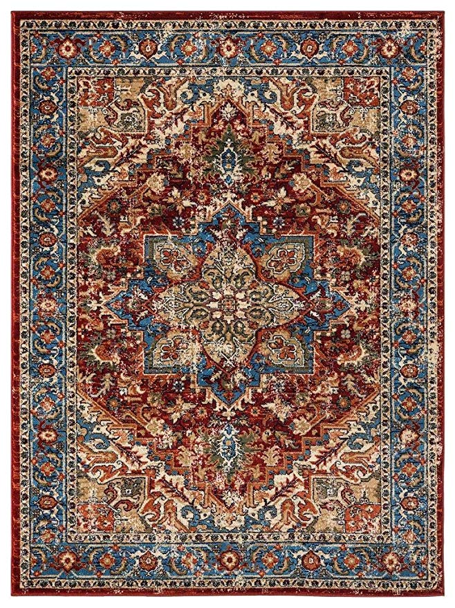 Amazon Com Luxe Weavers Howell Collection Red Oriental 8x10 Area
